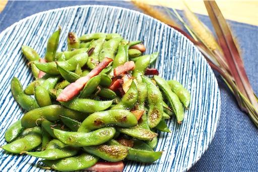 枝豆のペペロンチーノ炒め