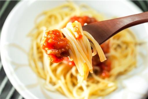 トマトソースの箸あげ