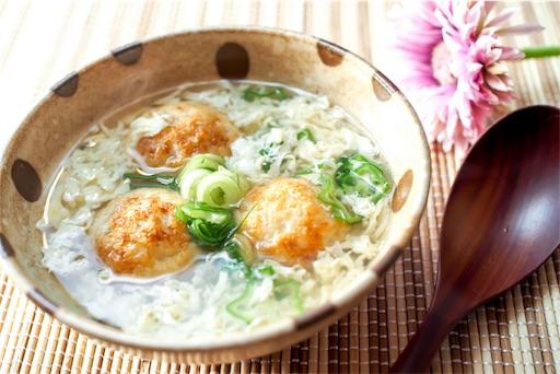 冷凍たこ焼きのしんじょ風スープ