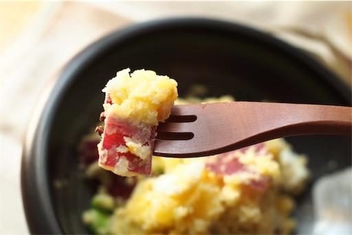 ポテトサラダの箸あげ