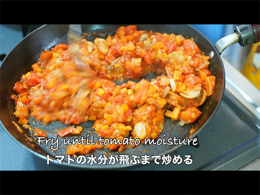 野菜をしっかり炒める