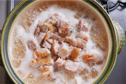 炊き込みご飯の沸騰