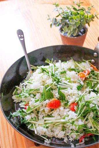 ペペロンご飯の完成写真