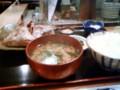 沼津港かもめ丸にて、金目鯛のあら煮定食