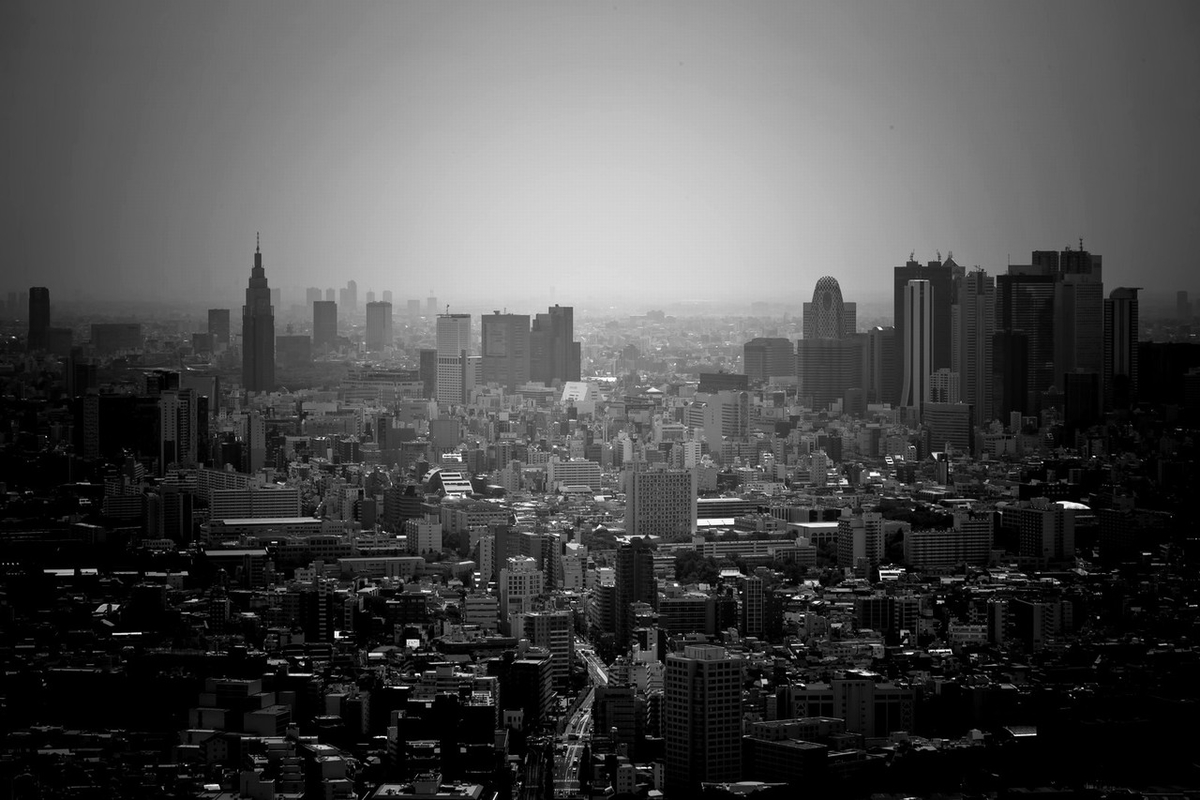 リセッションに沈む都市のイメージ