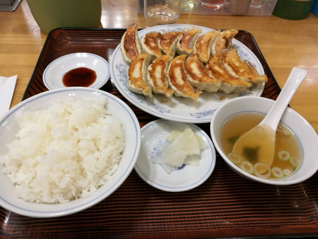 ダブル餃子定食(ご飯普通)
