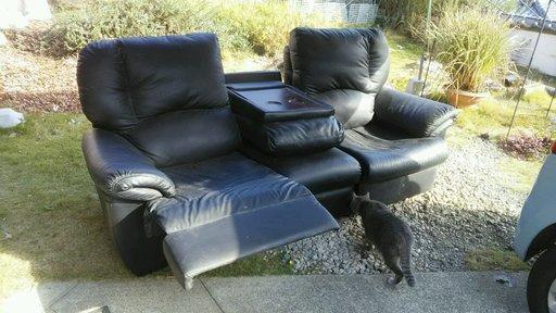 ジモティー出品のソファーの写真 ネコつき