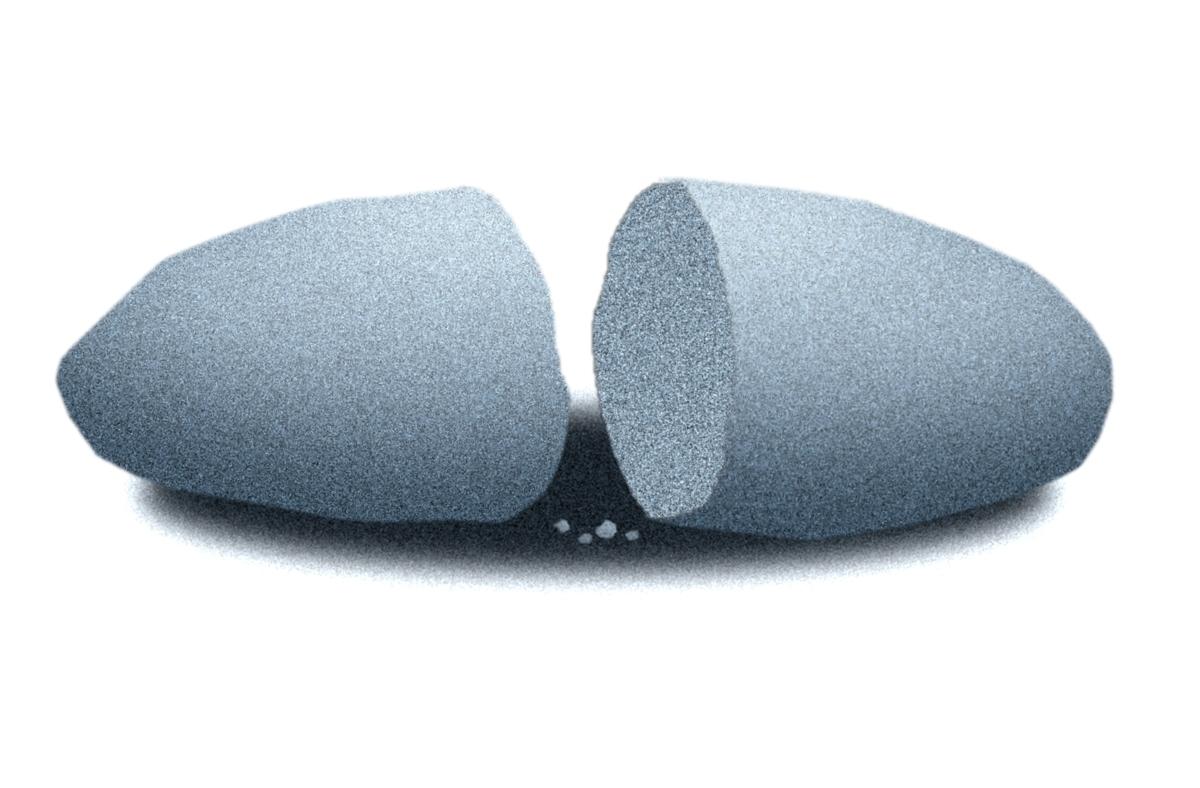 割れた石のイラスト