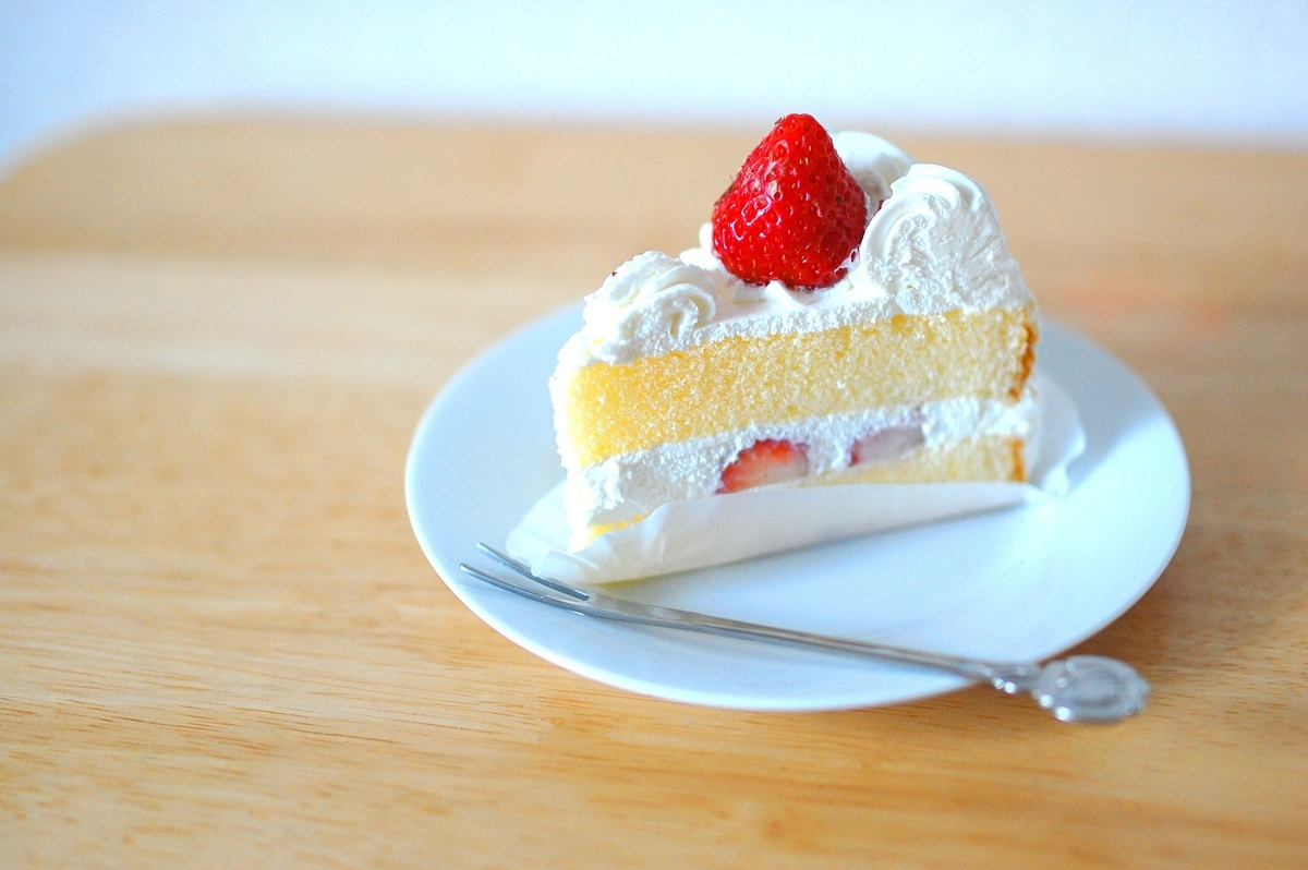 ショートケーキの写真