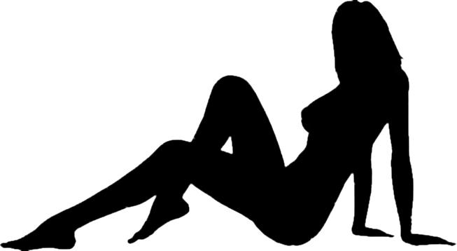 セクシー女性のシルエット写真