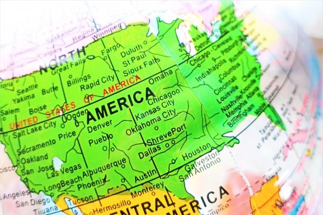 アメリカ合衆国の地図