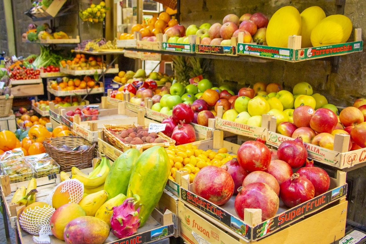 果物屋の店頭