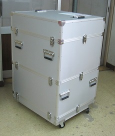 PC収納特注大型アルミケース オーダーメイド