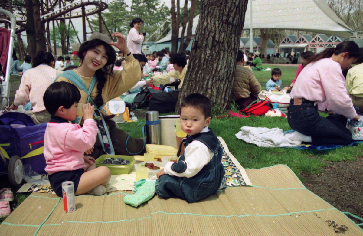 生活長女の幼稚園の遠足で小田急ファミリーランドへ1991年4月