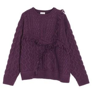 紫色のニット