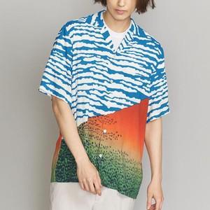 浮世絵の富士山ロハシャツ