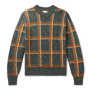 チェック柄セーター