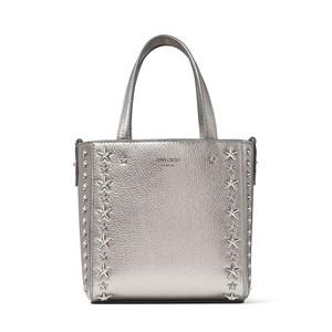 シルバーのハンドバッグ
