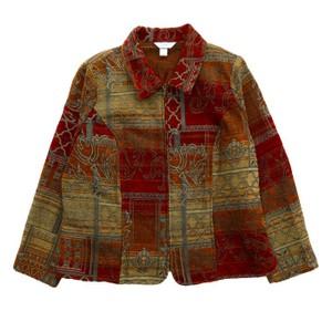 総柄シャツジャケット