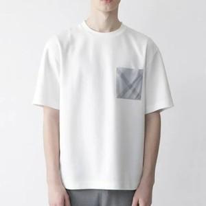 チェック柄ポケットTシャツ