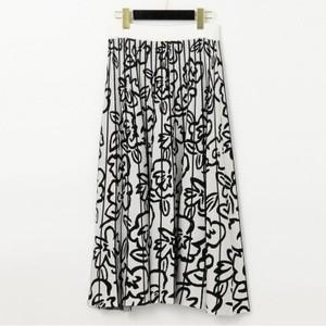 花柄ニットスカート