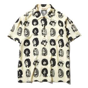 顔プリントシャツ