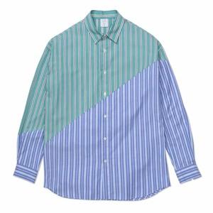ストライプ切り替えシャツ