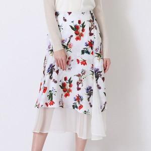花柄レイヤードスカート