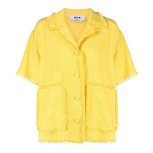 黄色いデニムジャケット