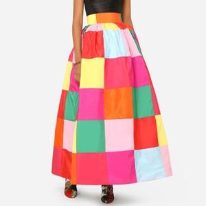 カラーブロック スカート