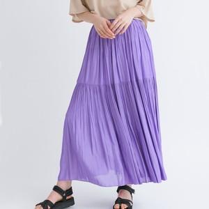 ラベンダーのプリーツスカート