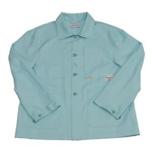 ミント色のワークジャケット