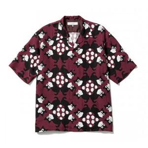 半袖オープンカラーシャツ