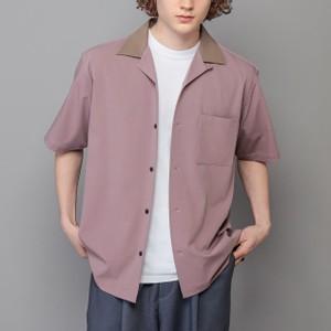 バイカラーオープンカラー半袖シャツ
