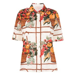 フルーツプリントシャツ