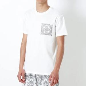 バンダナ柄ポケットTシャツ