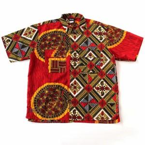 アフリカン柄シャツ