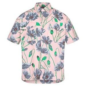 花柄半袖シャツ
