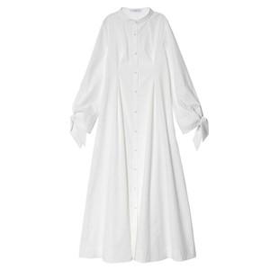 白いシャツワンピース