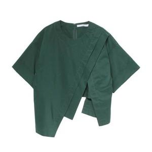 グリーンのショートシャツ