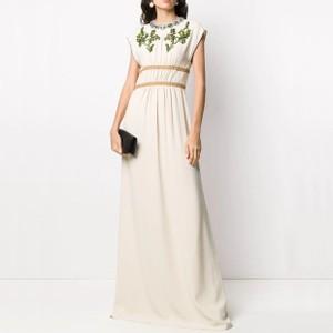 ビジューノースリーブドレス