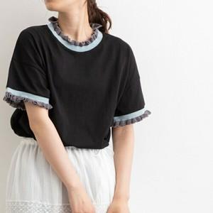 ニットフリルTシャツ