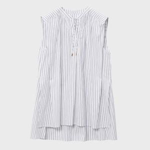 ストライブ柄ノースリーブシャツ