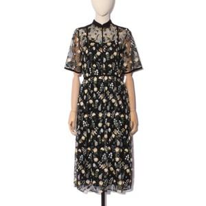 花柄刺繍ドレス