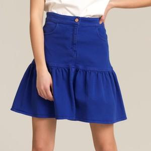 ブルーのショートスカート