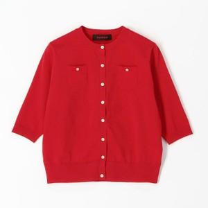 赤い半袖カーディガン