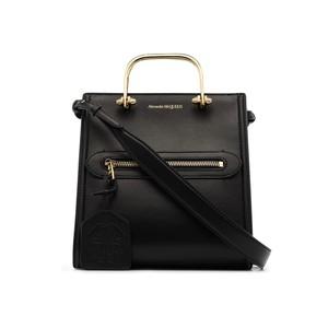 黒いレザーハンドバッグ