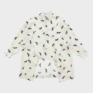 プリントロングシャツ