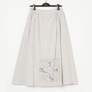 パッチワークストライプスカート