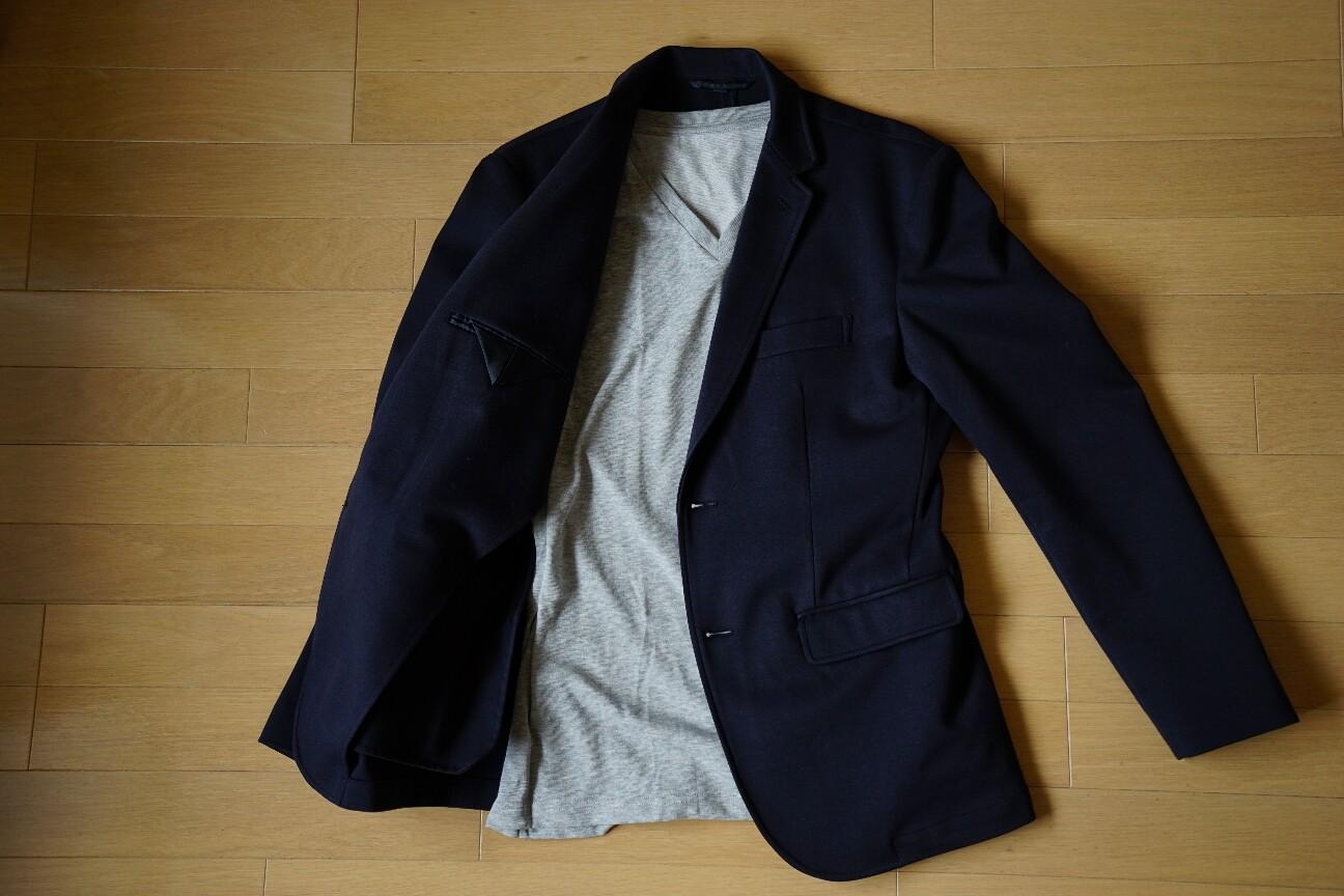 ユニクロの無地Tシャツ(ドライカラーVネックTシャツ)コーデ